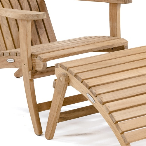 teak adirondack chairs with ottomans