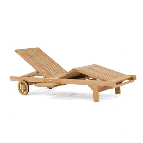 Somerset teak outdoor chaise lounger
