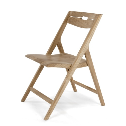 folding teak boat dining chair