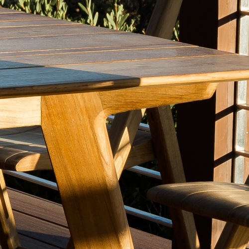 solid teak wood dining table
