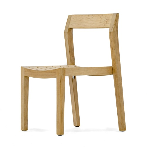 grade a teak wood luxurious stacking side chair