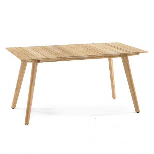 teak rectangular dining table patio