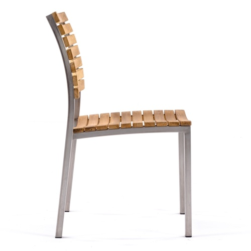 teak & aluminum side chair