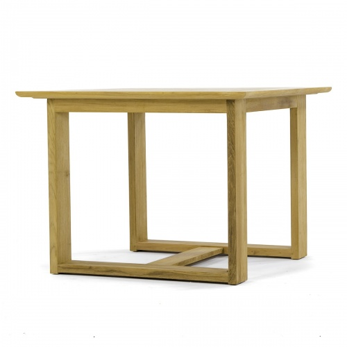 teak square bistro patio table