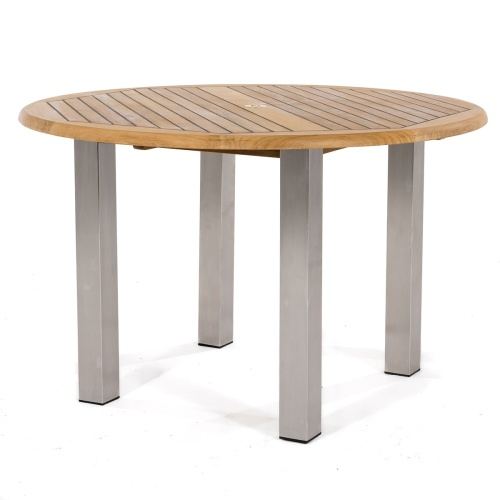 sikaflex sealed round wooden tables