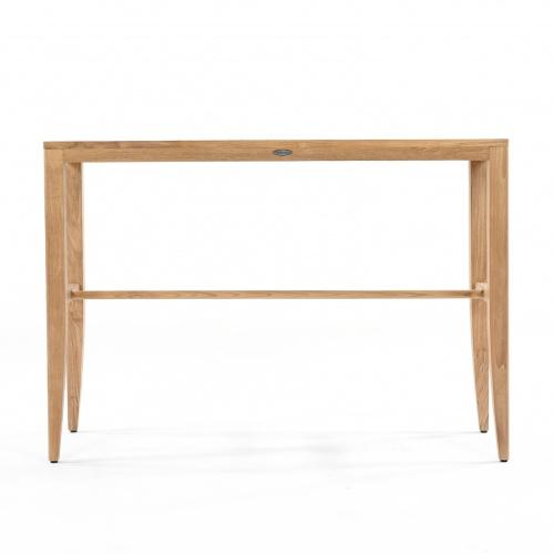 teak rectangular table bar