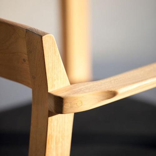 banquet teak stacking chair