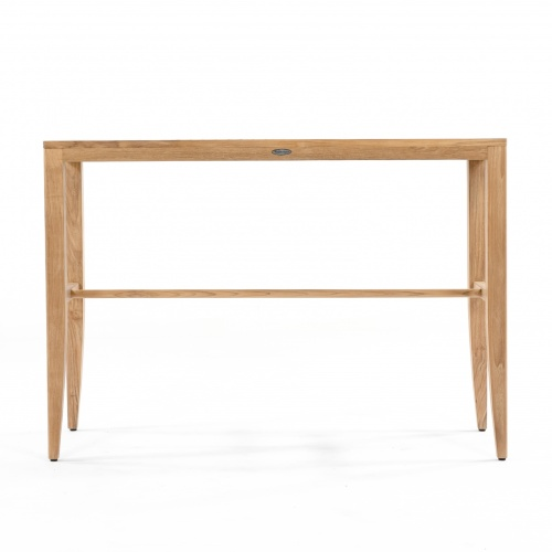 teak rectangular table bar