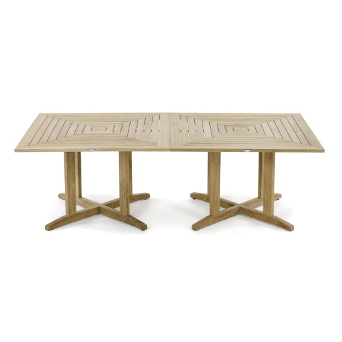 commercial contemporary teak 48 square table
