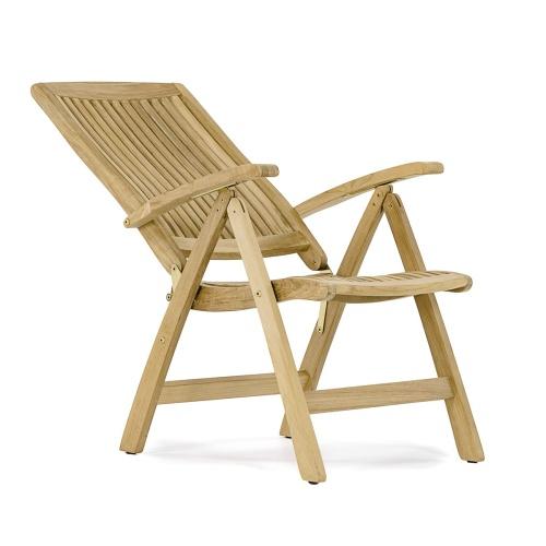 deck recliner teak