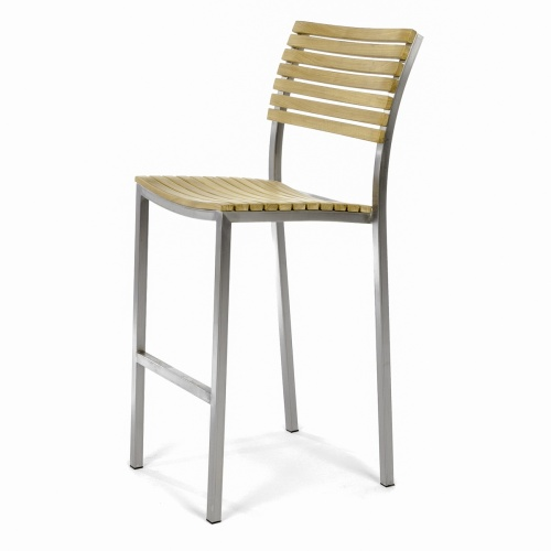 high teakwood stanless steel bar chair