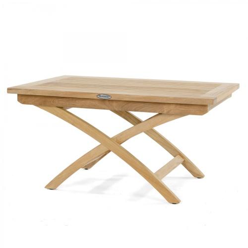 teakwood folding side table outside