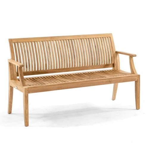teak lounge bench