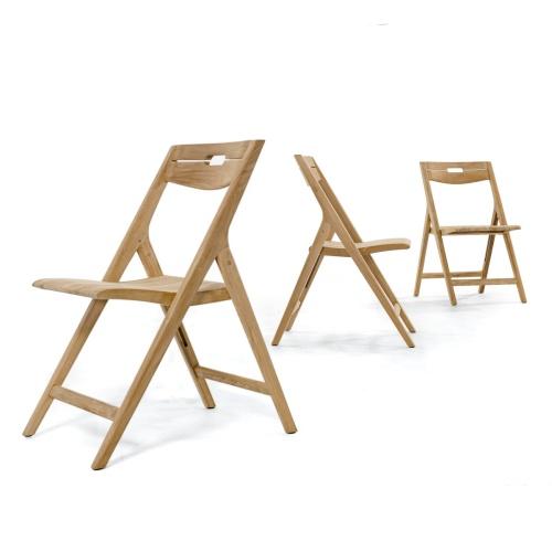teak wood folding chair set