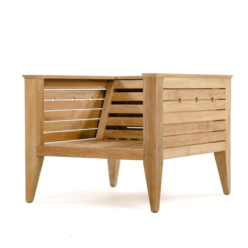 teak wood chair with arms