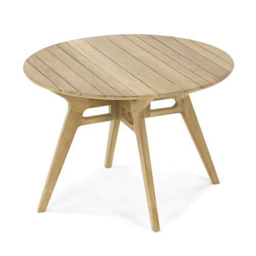 teak patio round table