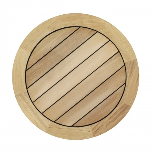 teak round bar table top