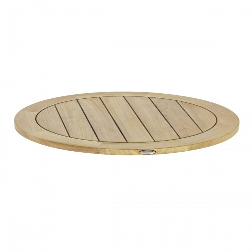 round teak wood outdoor table top