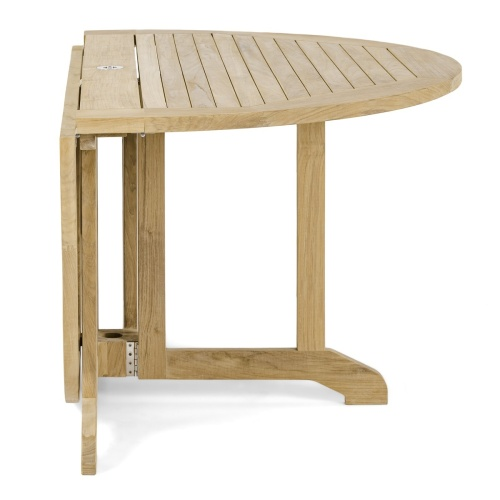 Round Wooden Patio Deck Table