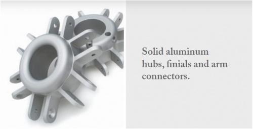 aluminum commercial umbrellas