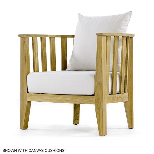 Teak Club Chair and ottoman