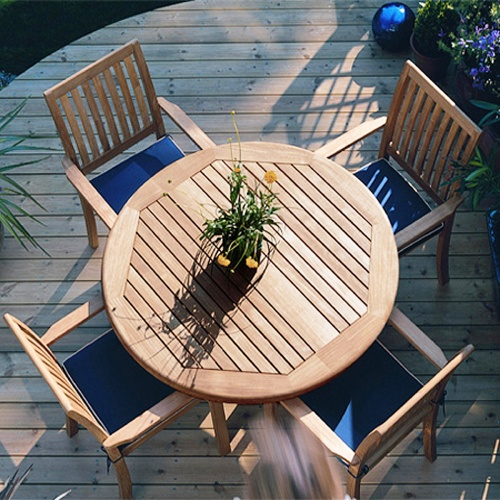 Stacking Teak Sidechairs