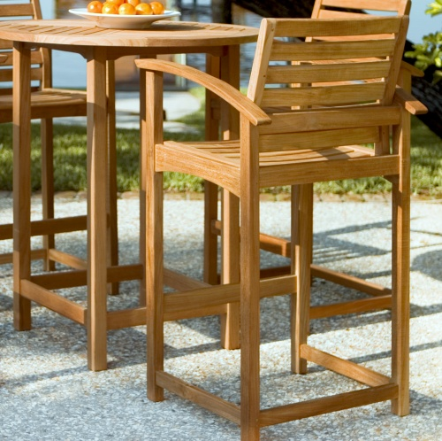 Wood Outdoor Barstool