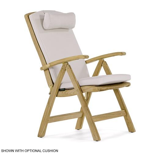 folding recliner chair teak