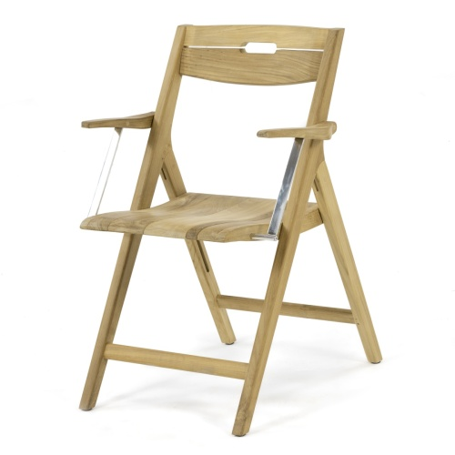 teak boat chairs folding