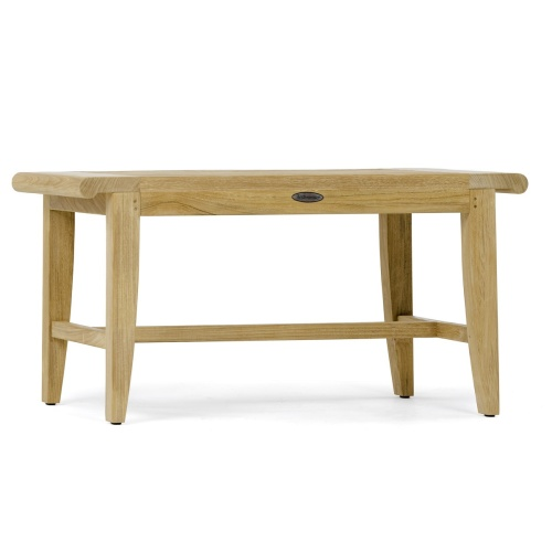 solid wood spa shower bench