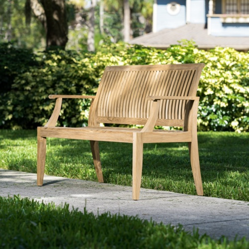 wooden country bench