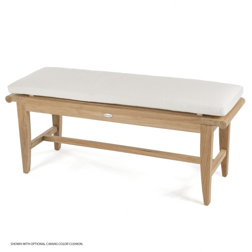 wooden outdoor backless benches with cushon