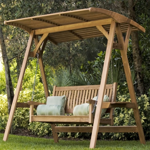 teak patio swings
