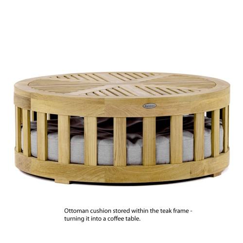teak wood patio coffee table