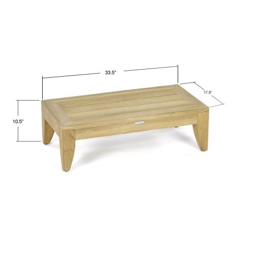 patio teakwood side table