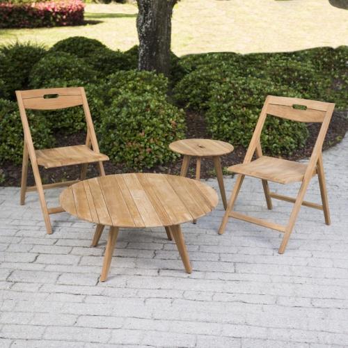 great teak modern outdoor side table