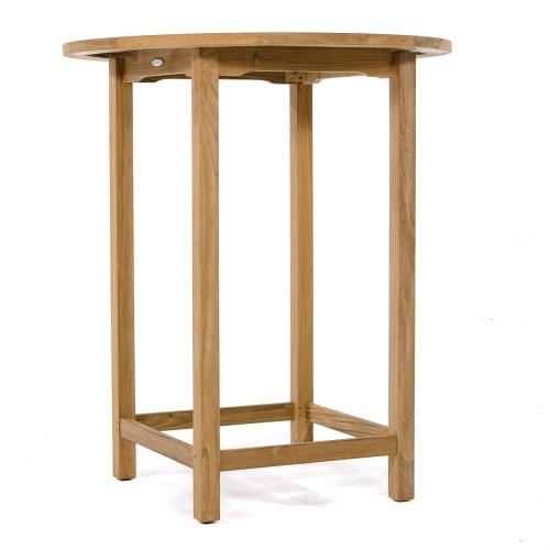Round Wooden Bar Table Teak