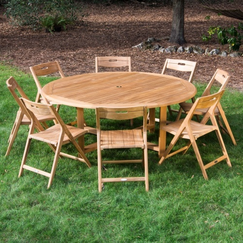 Teak Patio Round Set