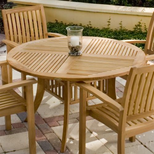 grand hyatt 4ft teak table set