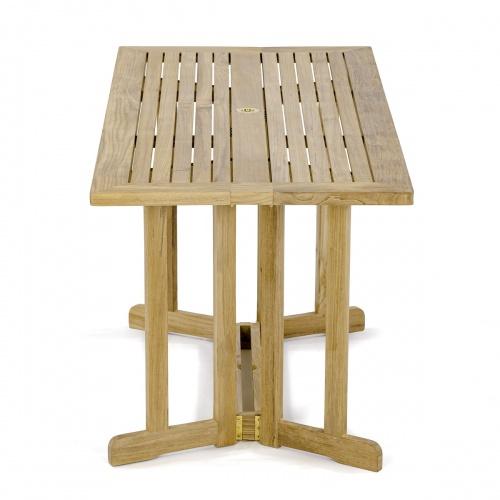 teak outdoor furniture folding table