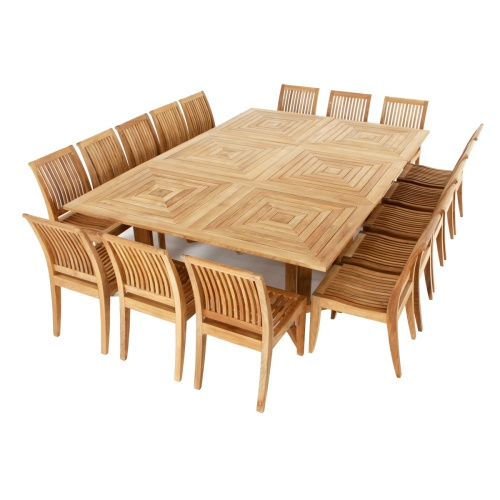 Large Outdoor Teak Patio Set
