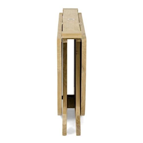teak drop leaf foldup table