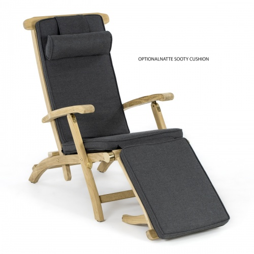 westminster teak steamer chair recliner with atms