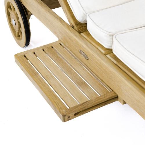 Wooden Poolside Sun Lounger