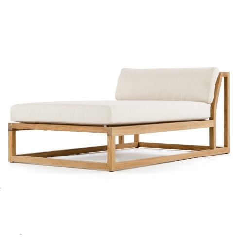 Outdoor Wooden Patio Chaise