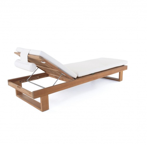 teak wood deck loungers