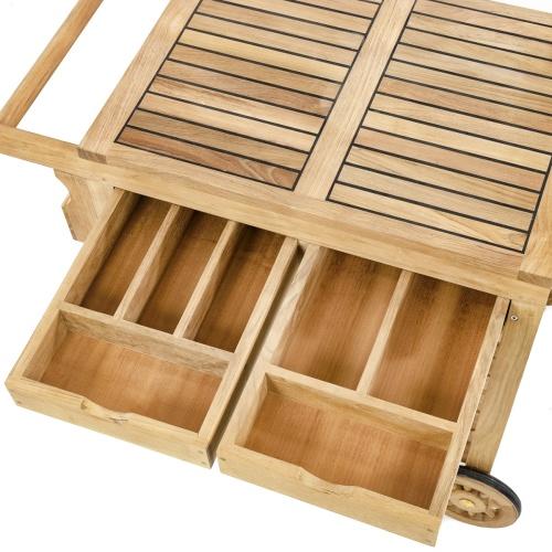 Wooden Outdoor Serving Cart