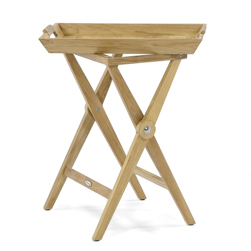 Folding Wooden Serving Tray with Stand