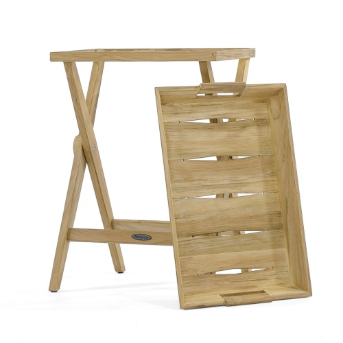 Folding Wooden Serving Tray