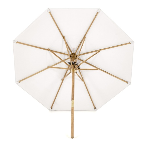 canvas teak umbrella double pulley